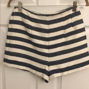 BCBGENERATION blue & white striped shorts 6
